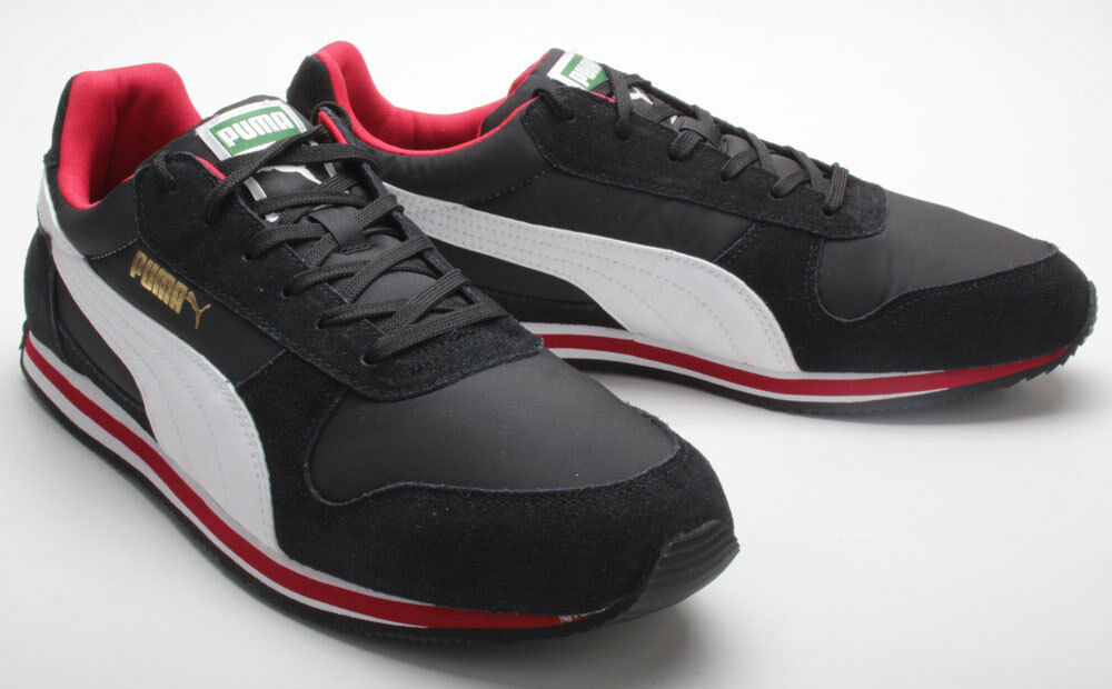 Puma Fieldsprint black-white-ribbon red 354626 02 schwarz-weiß-rot Gr. 40-45