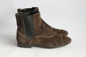 mieux choisir Bons prix produits chauds Détails sur TOD'S Bottines daim marron Chaussures femme T35 (40848)