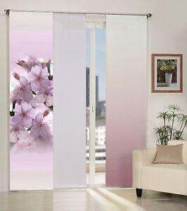 schiebegardine blickdicht foto bl ten lila farbverlauf lila uni wei ebay. Black Bedroom Furniture Sets. Home Design Ideas