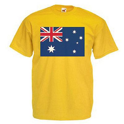 Australia Flag Mens Adult T Shirt