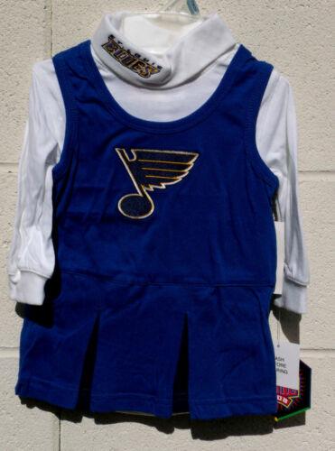 St Louis BLUES Infant Cheerleader Dress 12m 18m 24m NWT NEW Jersey