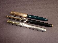 Lot de  3 Stylo-Plumes Anciens   WATERMAN , EDACOTO - Vintage Fountain Pens