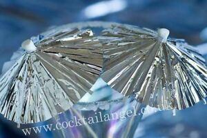 SILVER-Cocktail-ombrelli-bere-decorazioni-x-10