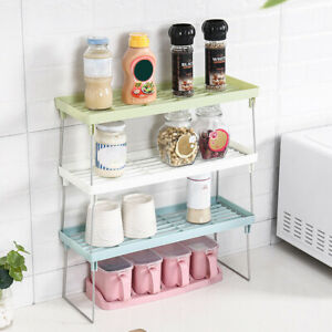 Peachy Details About Standing Rack Kitchen Bathroom Countertop Storage Organizer Shelf Holder Rack Complete Home Design Collection Epsylindsey Bellcom