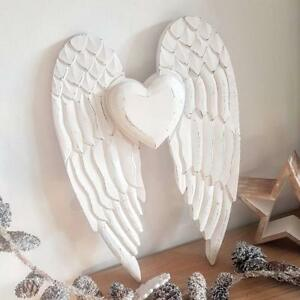 Details About Shabby Chic Wooden Angel Wings Wall Hanging Decoration