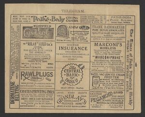 Burma-used-advertisement-telegram-S-7-Tobacco-Tea-Cinema-Motor-Oil