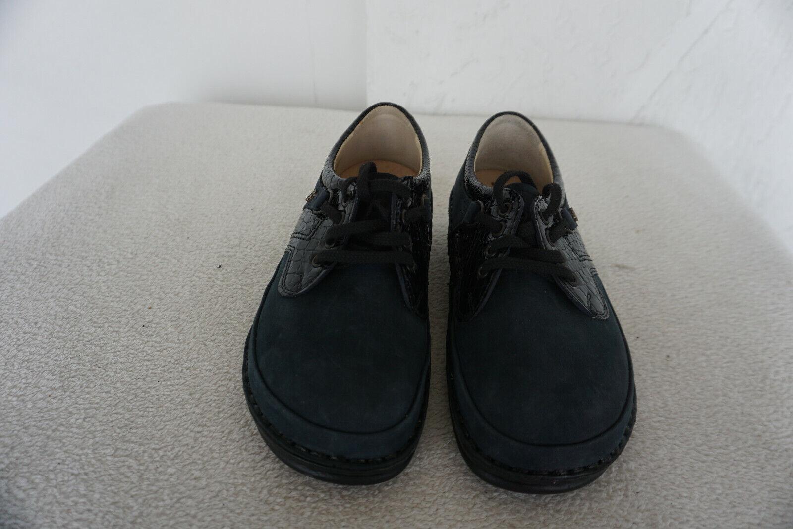 Finn Comfort mónaco schnürzapatos zapatos talla 37 azul marino depósitos nobuck cuero nuevo