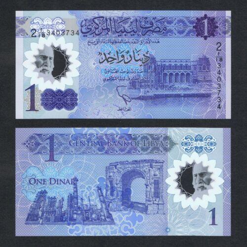 2019 LIBYA 1 DINAR POLYMER P-NEW UNC LOT 10 PCS/>8TH ANNIV OF THE REVOLUTION COMM