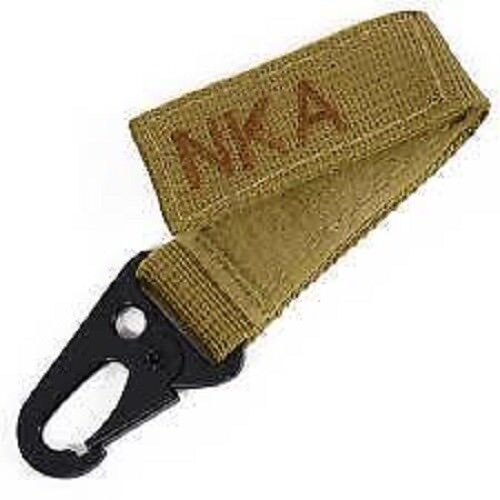 No Known Allergies Molle Blood Group Hook NKA Keychain