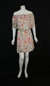 ESPRIT-OFF-SHOULDER-FLORAL-GATHER-WAIST-DRESS