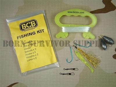 BCB COMPACT EMERGENCY SURVIVAL FISHING KIT Hand Line for Liferaft Boat Bushcraft