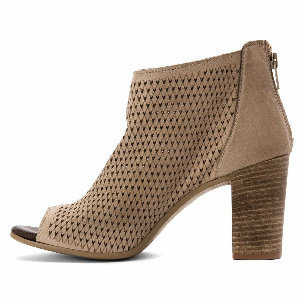 KENNETH COLE Nina Perforated Taupe Leder Heels Bootie Taupe Perforated 7.5M c8efda