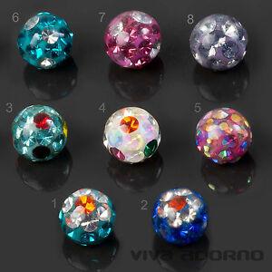 1,2 0 63/1000in Piercing Screw-ball Epoxy Multi-crystal Ferrido Spare Ball Z440
