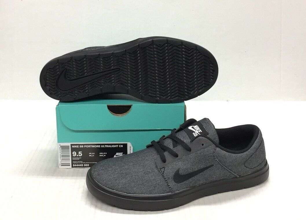 NIKE SB PORTMORE ULTRALIGHT CANVAS BLACK / BLACK Price reduction New shoes for men and women, limited time discount