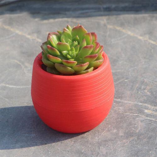 Cute Round Small Home Garden Office Decor Planter Plastic Plant Flower Pots