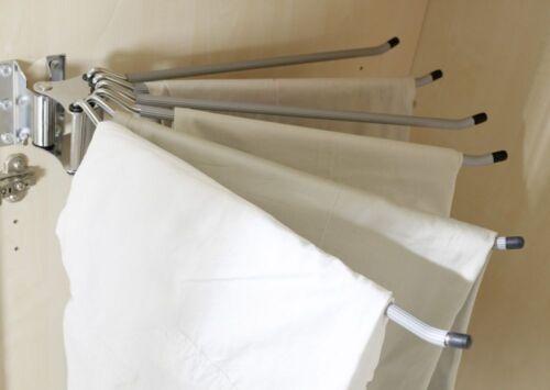 """Hosenhalter /""""Plus/"""" chrom für Kleiderschränke 8x43x43cm"""