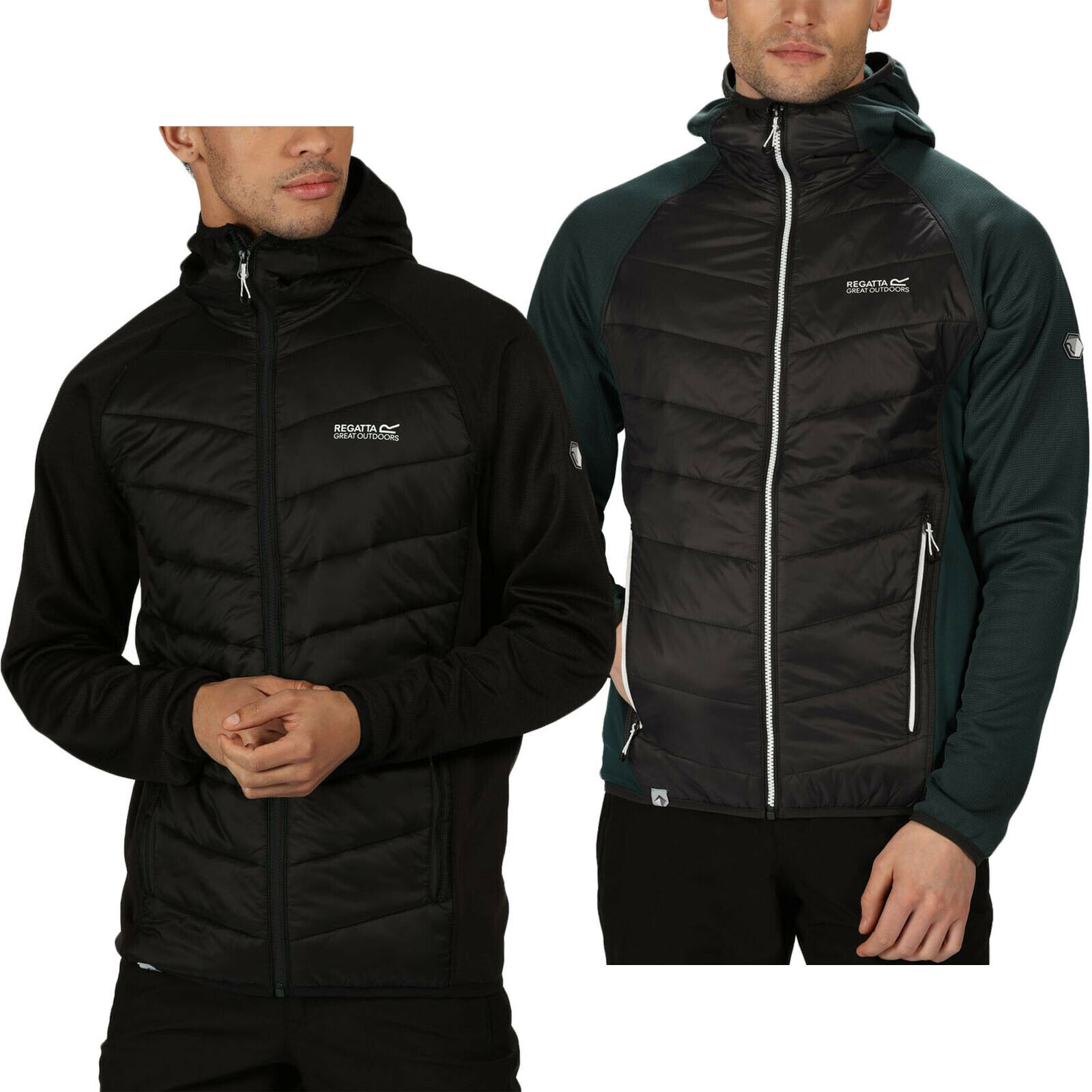 Regatta Mens Andreson V Hybrid Insulated Quilted Hooded Outdoor Jacket