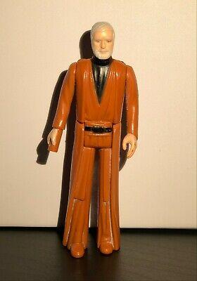Obi Wan Ben Kenobi  Kenner Star Wars Hong Kong  Loose Vintage  Action Figure 1977  GMFGI Missing Light Saber and Cape Gray Hair