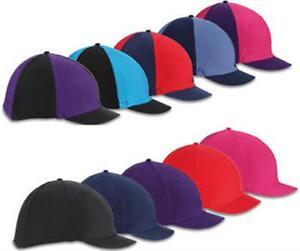 Shires-Riding-Skull-Hat-Helmet-Cover-Silk-Plain-or-Multi-Designs-Peaked
