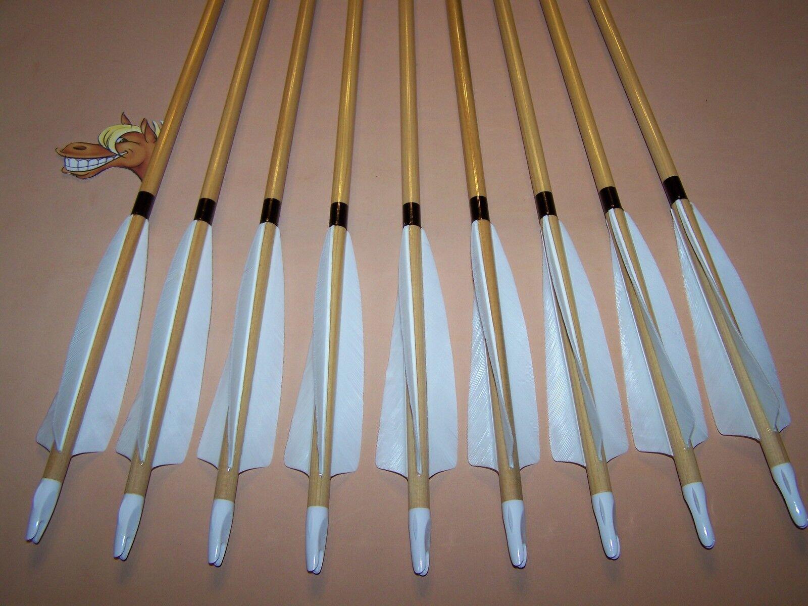 9 Nuevas De Madera De Cedro, tradicional Flechas 50 55 SCA Medieval Arco Largo