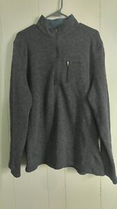 Woolrich-Blue-1-4-Zip-Pullover-Sweater-Fleece-Jacket-Size-XXL