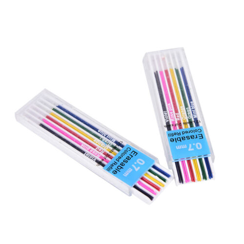 Box 0.7mm Colored Mechanical Pencil Refill Lead Erasable Student Stationar BH