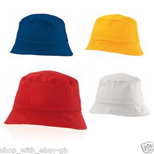 100-COTTON-Children-039-s-Bucket-Hat-Summer-Fishing-Beach-Kids-Sun-Cap-Child-BN