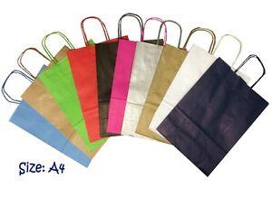 25-X-Papier-Fete-Sac-Cadeau-Taille-A4-Boutique-Magasin-Present-Transport-Pic