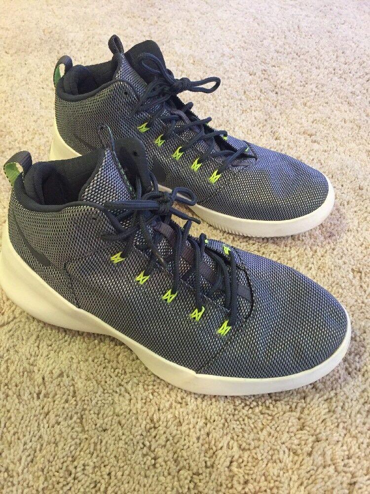 Mens Nike Hyperfr3sh Basketball Shoes Size 10.5 Black White Grey 759996-002