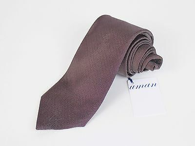 New Uman By Umberto Angeloni Brioni CEO Micro White Dotted On Burgundy Silk Tie
