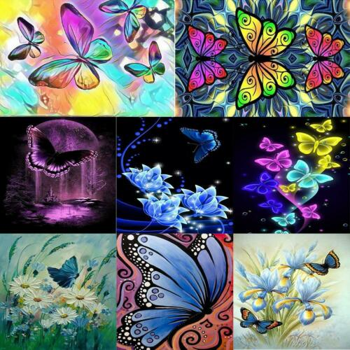 5D DIY Full Drill Diamond Painting Butterfly Embroidery Mosaic Art Craft Kits