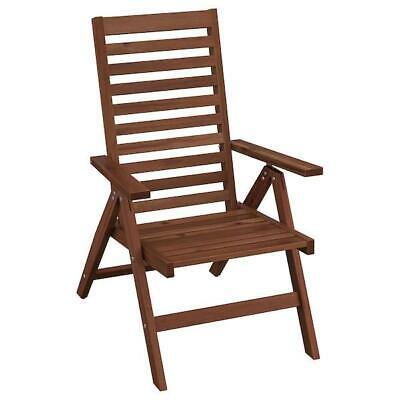 Sedie Pieghevoli Da Giardino Ikea.Ikea Sedia Per Esterni Braun Pieghevole Massivee Acacia Da Giardino Poltrona Ebay