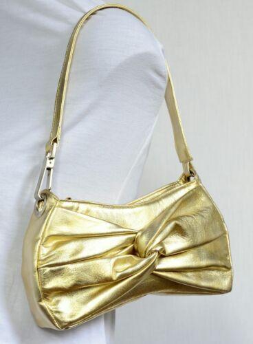 a Evening bandolera Hispanitas Metallic Gold bandolera Party Leather peque n78STwx8