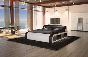dual wasserbett matera komplett set schwarz beheizbar led. Black Bedroom Furniture Sets. Home Design Ideas