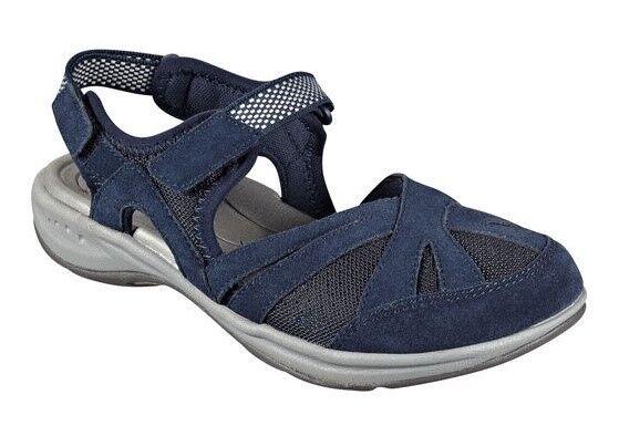 Easy Spirit Splash athletic walking shoe Leder mesh navy Blau sz 7.5 Med NEU
