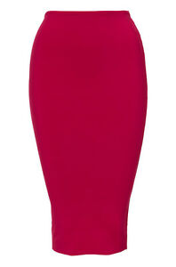 Image is loading KOOKAI-BODY-CON-MIDI-SKIRT-PARTY-PINK-BNWT- 93b6a54b5
