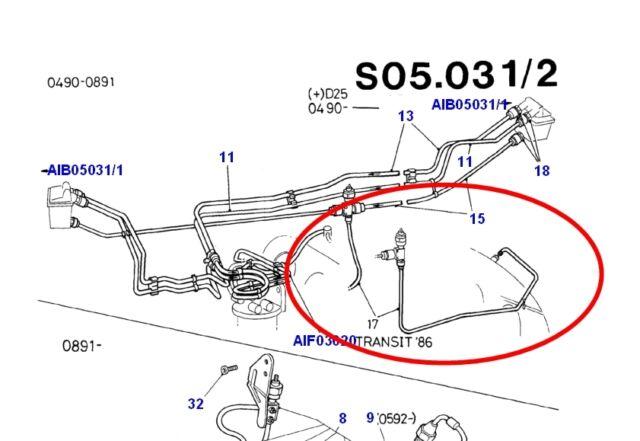 ford transit iv mk4 cable di u00e9sel l u00ednea de combustible