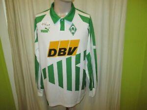 Werder-Bremen-Original-Puma-Langarm-Heim-Trikot-1994-95-034-DBV-034-Gr-L