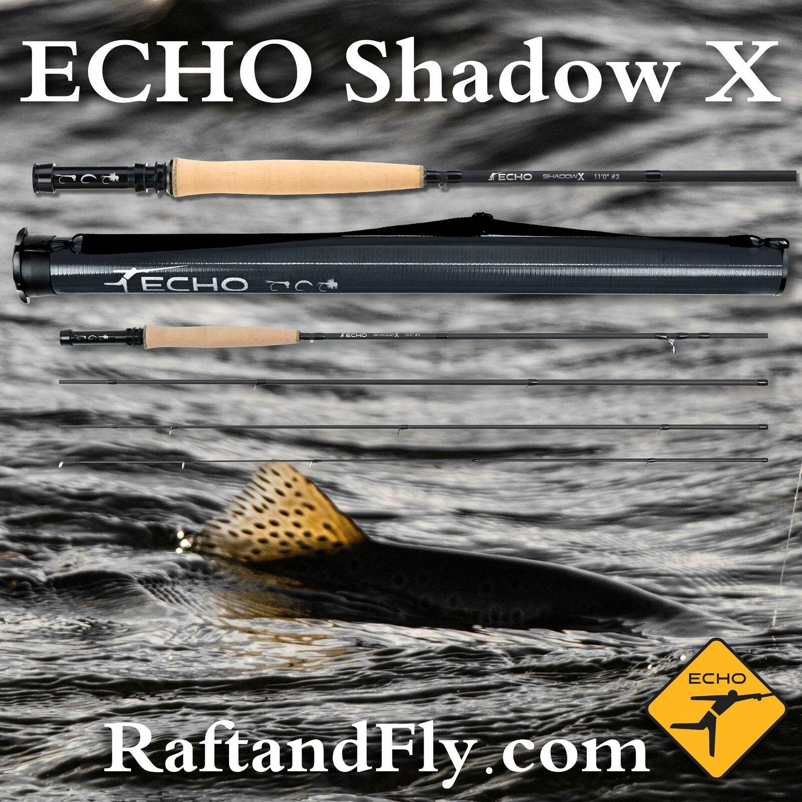 ECHO Shadow X 3wt 10'6  Lifetime Warranty  Free Shipping