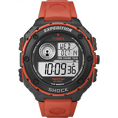 Timex Expedition Vibe Shock Resistant Orange Band Outdoor Diver Watch T49984