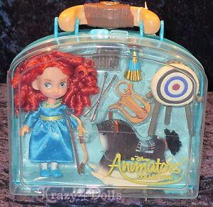 Disney Animators' Collection Mini Doll Play Set Merida Brave NEW!