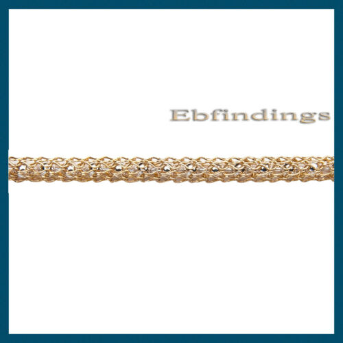 3 FEET KNITTED COLORFUL CAPTURE MESH GOLD OVER SILVER