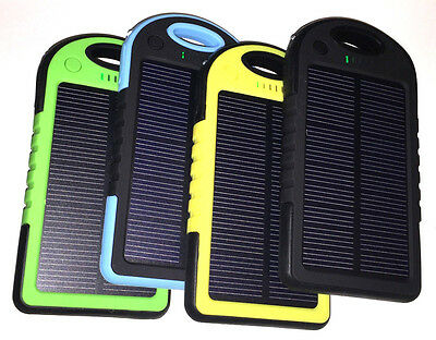 5000mAh USB Solar Panel Power Bank Charger External Battery Pack for Cell Phones