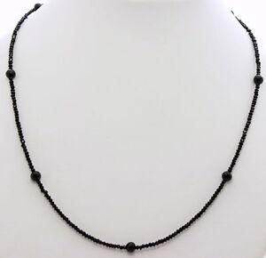 Spinello Collana Pietre Preziose Sfaccettato Nero Design Collier Donna ca.47 CM