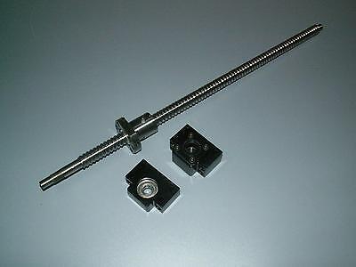1 anti backlash 25mm ballscrew RM2505-1200mm-C7+BK//BF20 end bearing support CNC