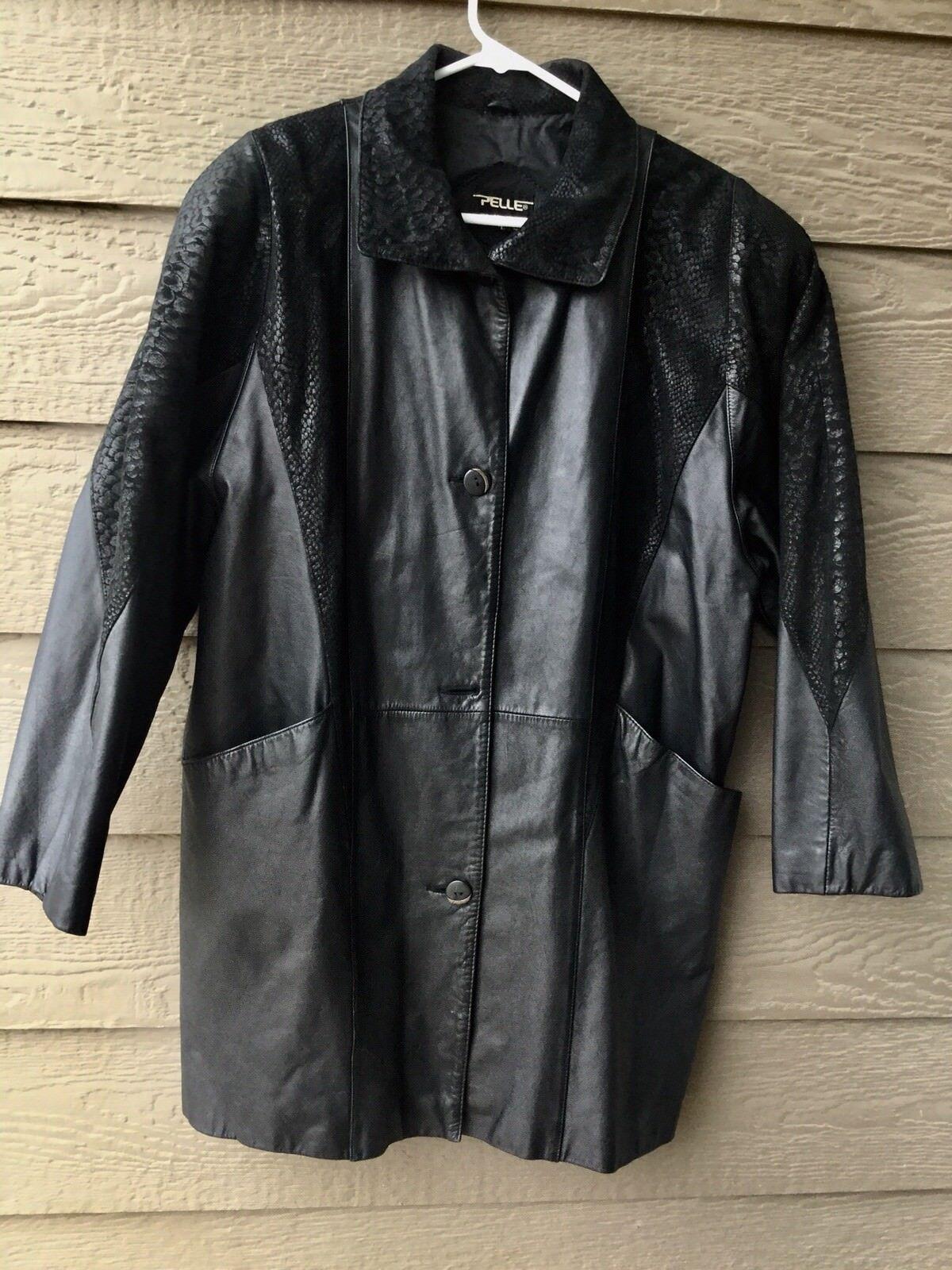 PELLE New York - Milano Women's Vintage Leather Coat - Size  L- CLEAN, Korea