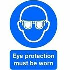 Signslab Safety Sign Eye Protection Must Be Worn A4 PVC Ma01250r