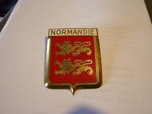 Sigle-insigne-logo-cuivre-NORMANDIE-blason-embleme-armoiries-Drago-Paris