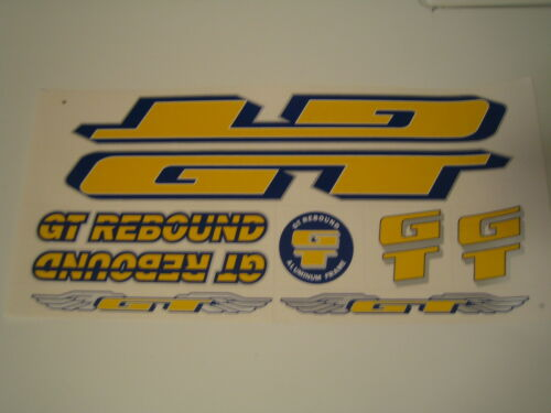 GT Rebound Stickers  Yellow Dark-Blue /& Silver.