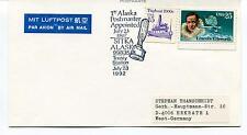 1992 1st Alaska Postmaster Appointed Sitka Treaty Station GULLER Polar Cover